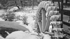 Ölmühle Tüschenbroich im Winter